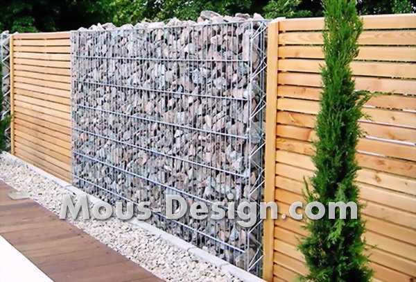 Gabion fence replaces wooden fence in Bochum