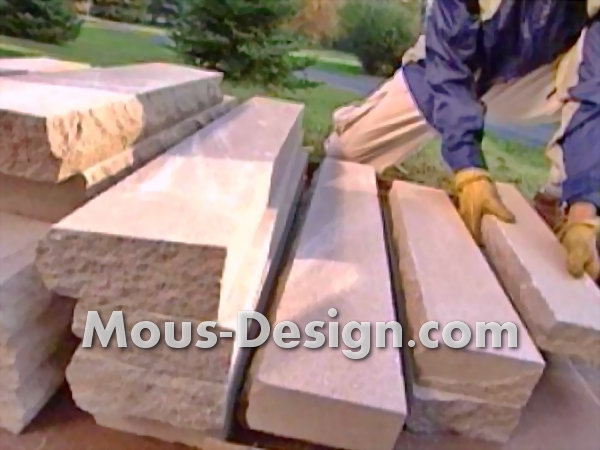 Building a natural stone wall in five steps