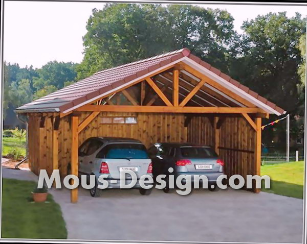 Garden house, carport and shed