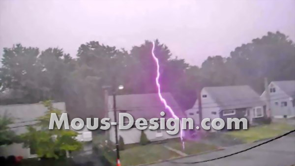 Lightning strike in a house - what happens?