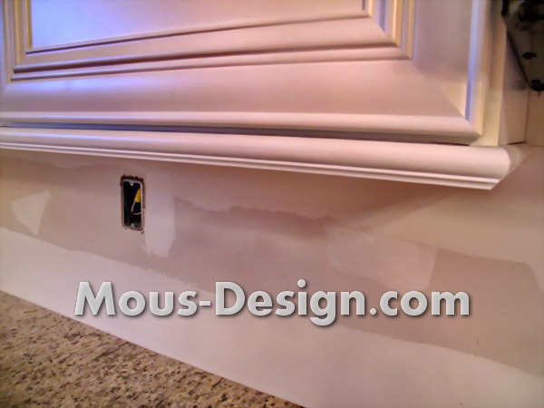 Kitchen Cabinets with Mounting Rails