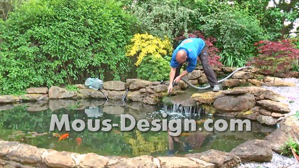 Cleaning a Garden Pond