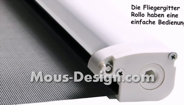 Fly screen roller blind: protection against annoying visitors