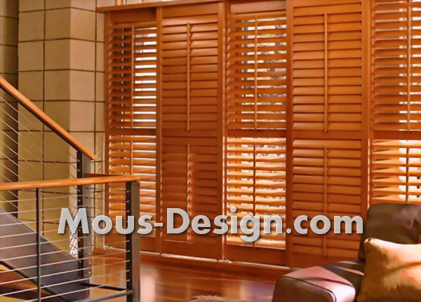 The variety of wooden blinds