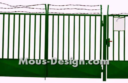 Setting a mat fence - step by step